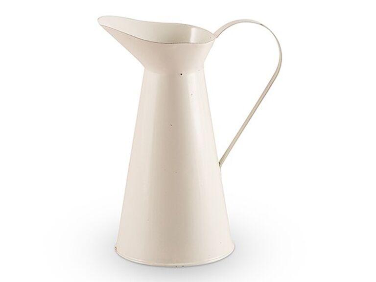 French Provençal style enamel pitcher,