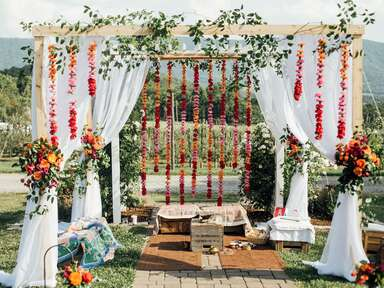 Multicultural wedding ceremony décor