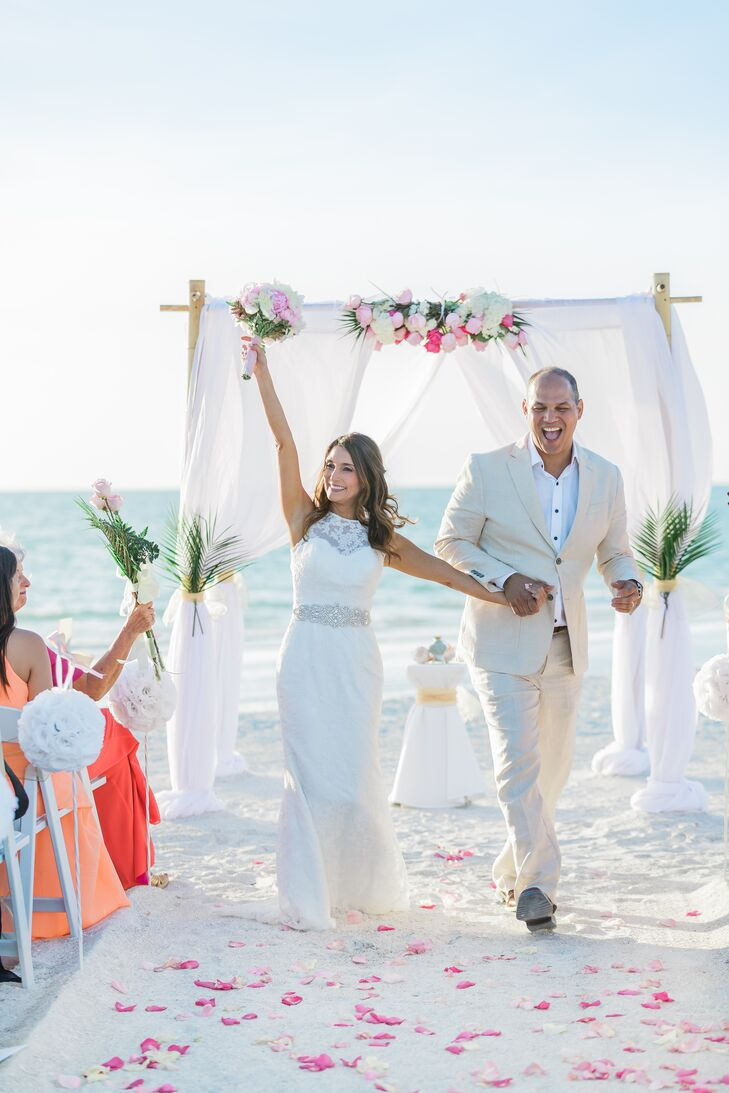 A Black White And Pink Beach Wedding At Hotel Zamora In St