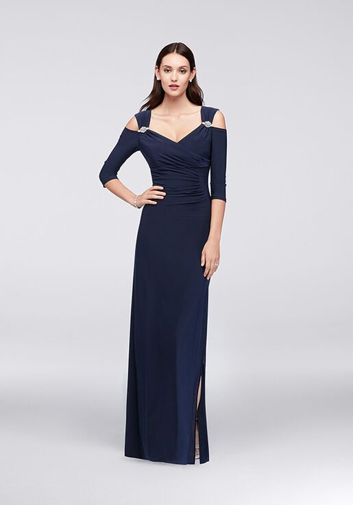 7ef09778005 David s Bridal Mother of the Bride 8950DB Blue Mother Of The Bride Dress