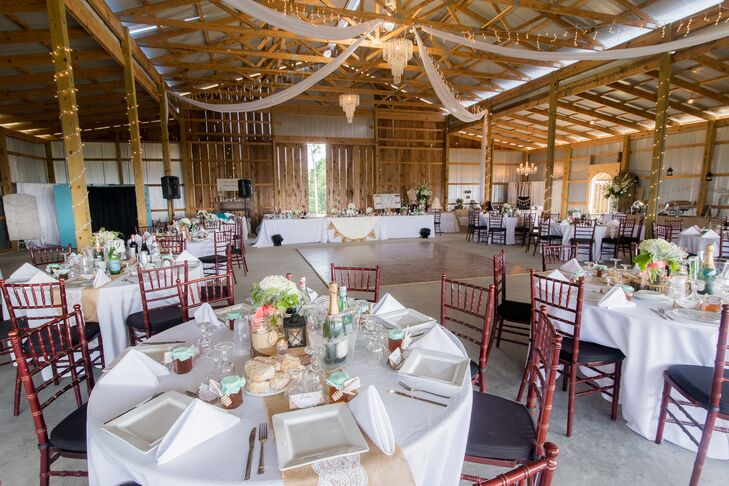 """It had all the details we were looking for such as wood barn and crystal chandeliers, and it was open to the wild with this incredible view,"" Melissa says."