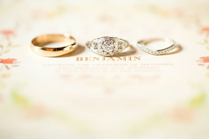 Gold and Silver Classic Wedding Rings