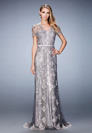 La Femme Evening 21897 Pink Mother Of The Bride Dress