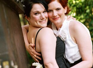 It was a romance 18 years in the making for Annie and Kim who met during a late-night party at Louisiana State University. Although they talked into t