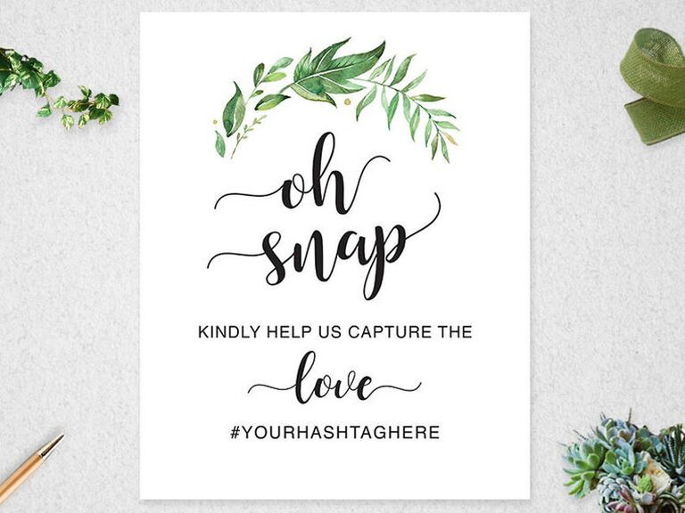 Printable hashtag bridal shower sign