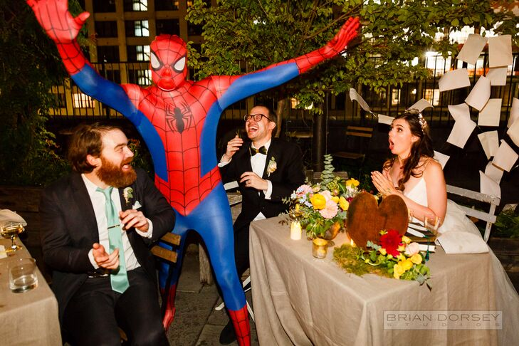 Spiderman Guest Appearance at Reception