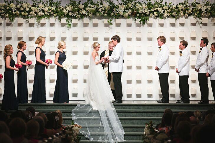 Modern White Ceremony Backdrop