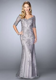 La Femme Evening 24866 Grey Mother Of The Bride Dress