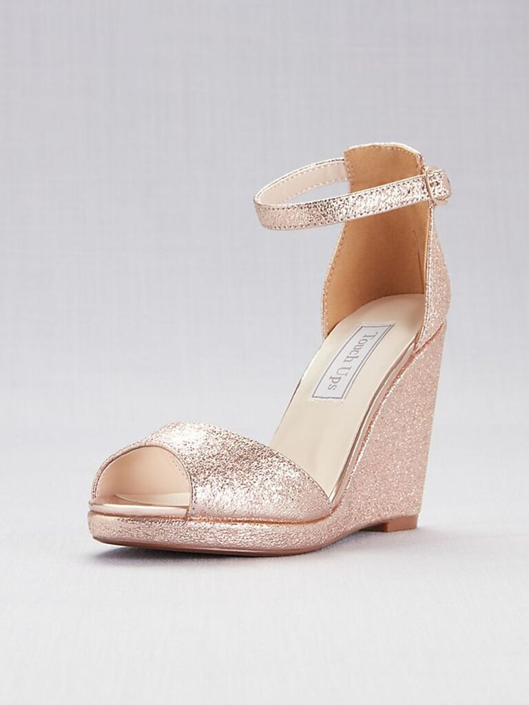 Touch Ups Holly ankle-strap peep-toe wedges
