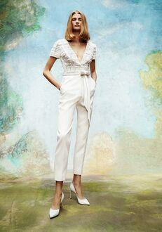 Viktor&Rolf Mariage FROSTED TWEED TAILORED JUMPSUIT Sheath Wedding Dress