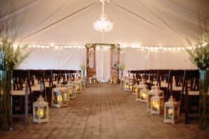 Intimate Tented Ceremony