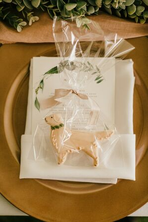 Dog-Shaped Cookie Favors for Michigan Wedding