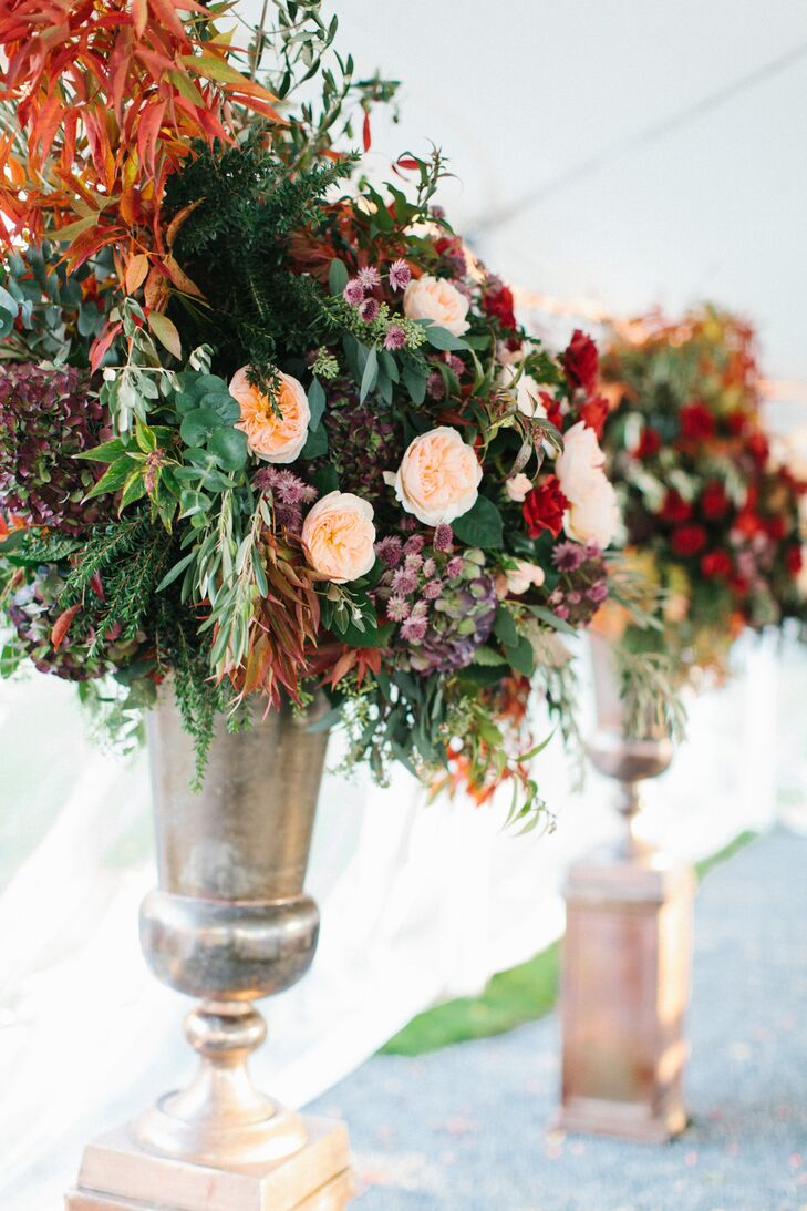 Large Fall Floral Ceremony Arrangements
