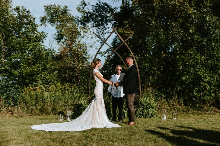 Geometric Wood Wedding Arch