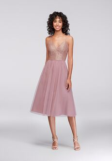 David's Bridal Collection David's Bridal Style F19704 V-Neck Bridesmaid Dress