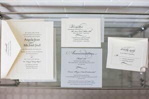 Ivory and Black Invitations