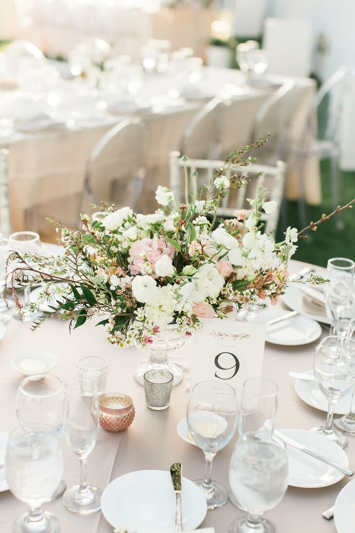 Romantic Centerpieces, Table Numbers and Candles