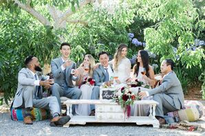 Relaxed, Bohemian Wedding Party