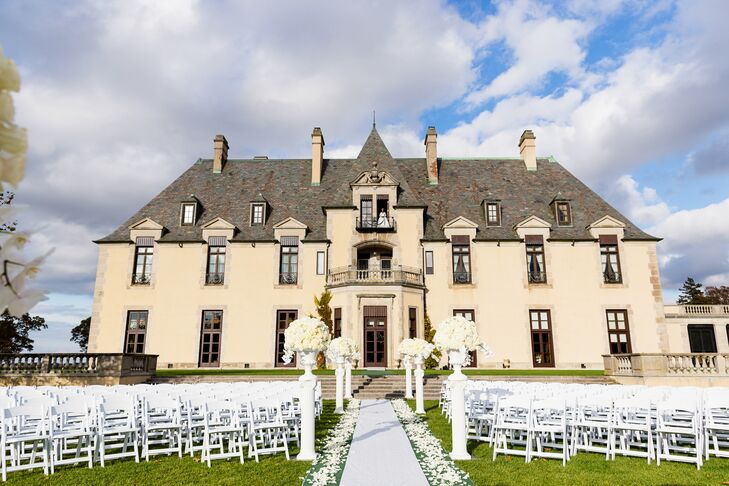 Ceremony at Oheka Castle in Huntington, New York