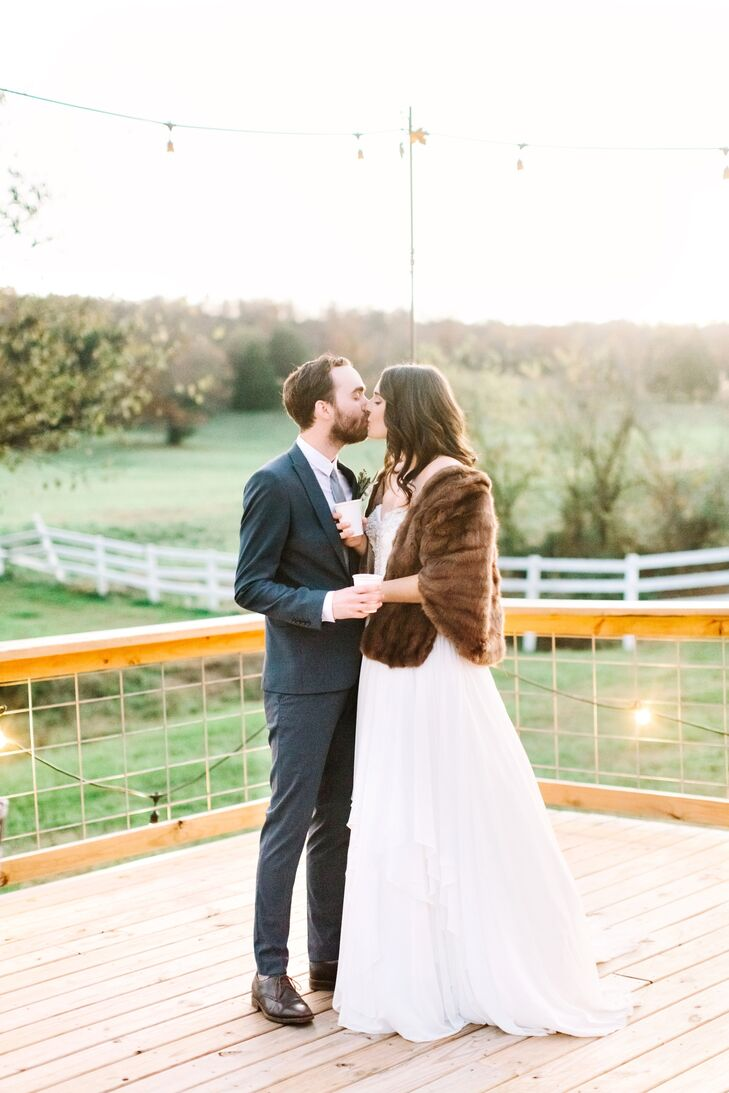 With the backdrop of a beautiful chapel and a rustic barn, Lydia Cazzell (27 and communications director at New Life Church) and Seth Flood (27 and a