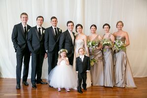 Black- and Neutral-Colored Wedding Party Attire