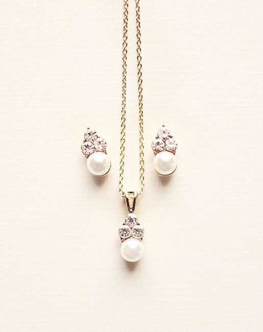 Dareth Colburn Pretty Pearl Drop Pendant Set (JS-509) Wedding Necklaces photo