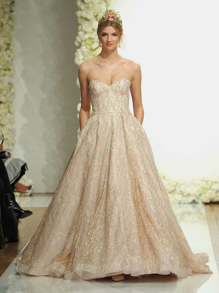 Morilee By Madeline Gardner Spring 2019 Sparkle Tulle A Line Wedding Dress In Nude