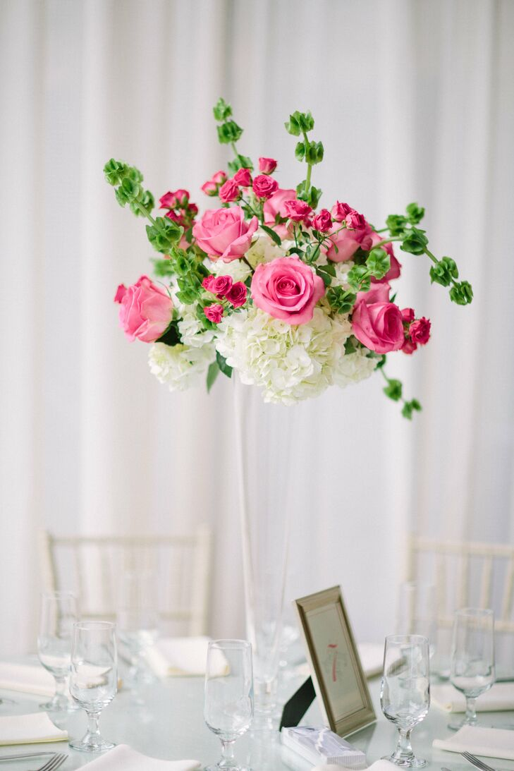 Timeless Trumpet Vase Tall Pink Centerpieces