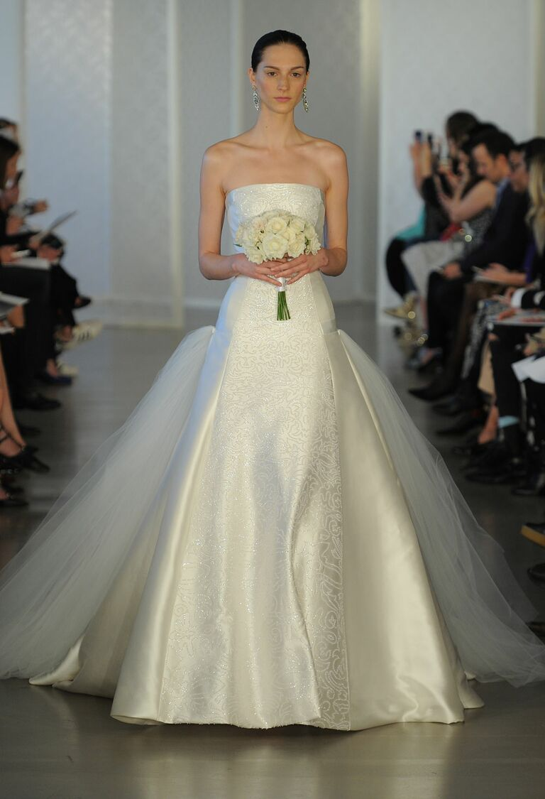 Oscar De La A Ivory Strapless Ballgown Wedding Dress From Spring 2017