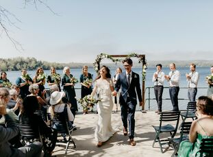 "Lydia Vanderhill and Ben Kelley's wedding venue, Watervale Inn in Michigan, was chosen for the special meaning it holds for the couple. ""We choose to"
