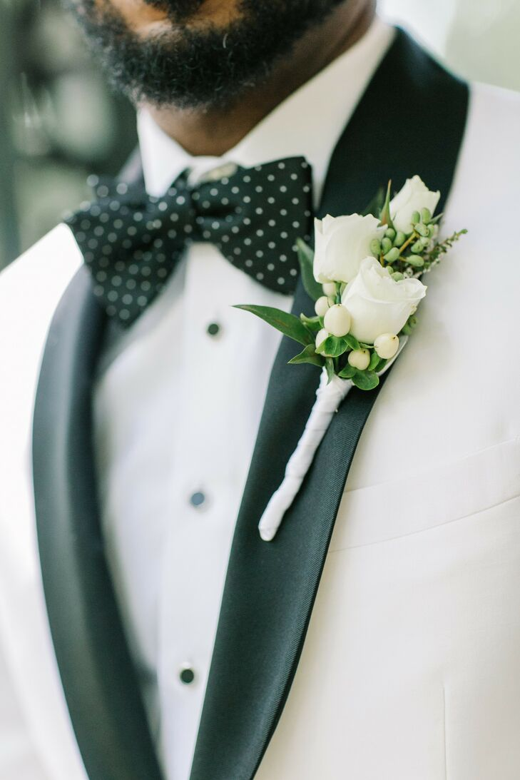 Elegant Boutonniere for Wedding at The Lace House in Columbia, South Carolina