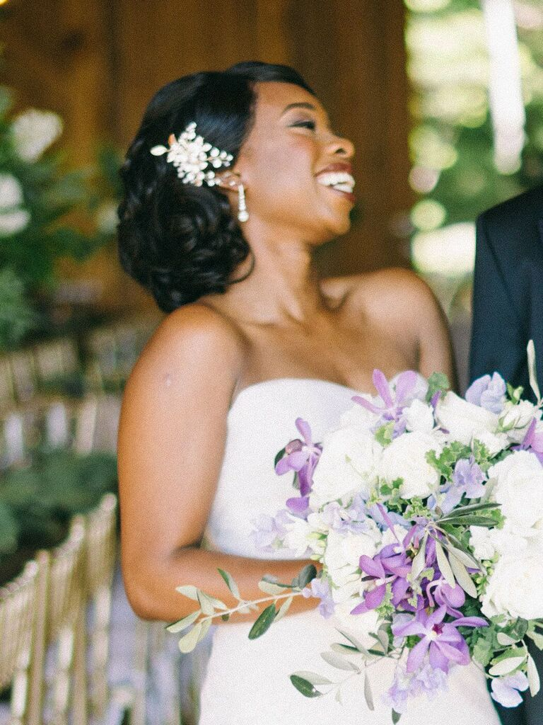 wedding updos pin curls in bun