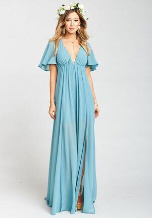 e2c5d477ac3 Show Me Your Mumu Faye Flutter Maxi Dress - Poolside Chiffon V-Neck  Bridesmaid Dress