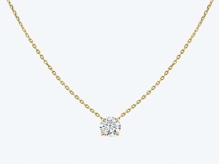 Vrai solitaire diamond necklace