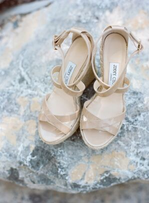 Nude Patent Jimmy Choo Sandals