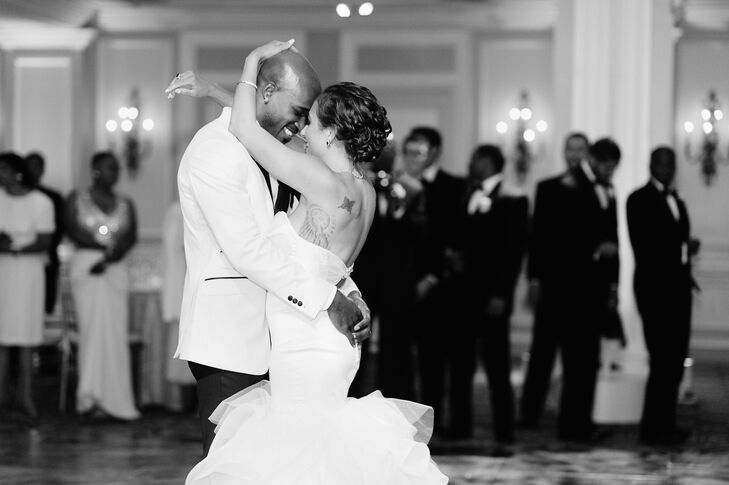 We can't get enough of this luxurious DC wedding. Jackie McKesey (26 and a medical student) and Donovan Gholar (27 and a personal fitness trainer) too