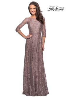 La Femme Evening 27857 Brown Mother Of The Bride Dress