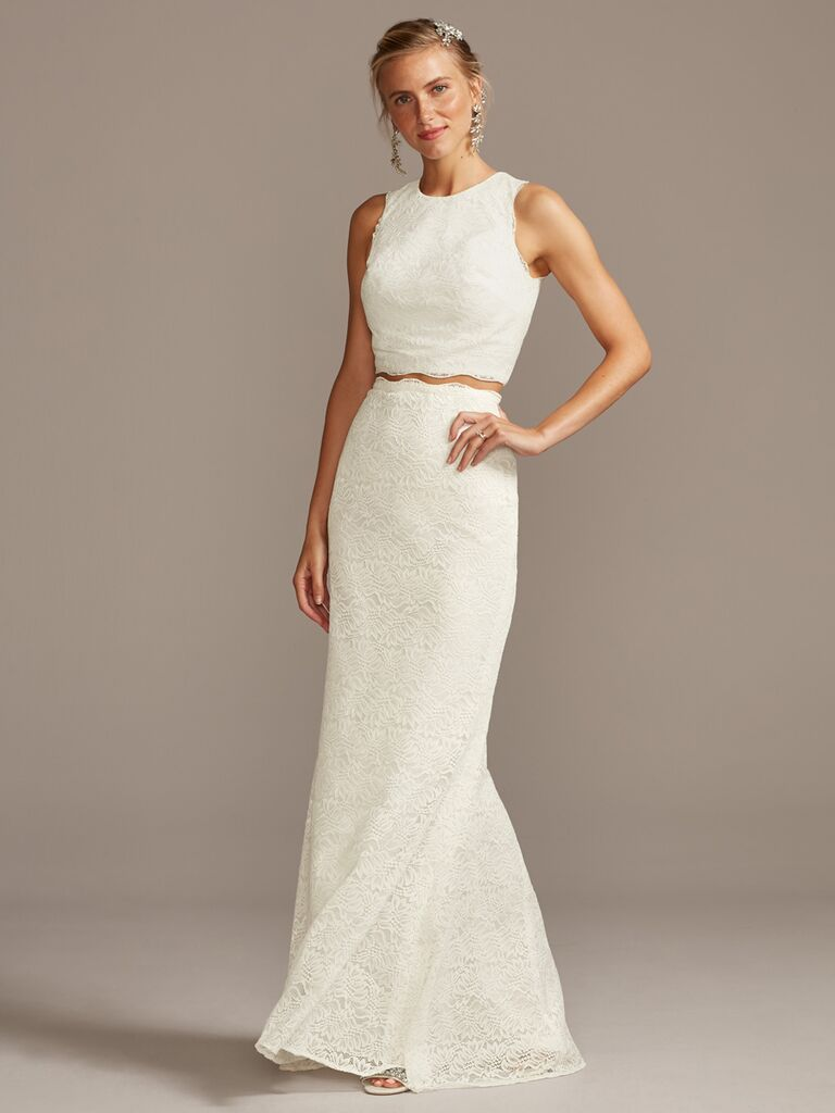 Melissa Sweet two-piece wedding dress