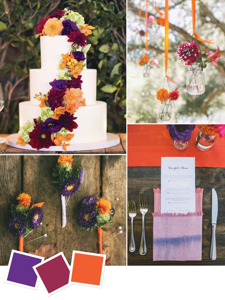 15 Wedding Color Combos You've Never Seen