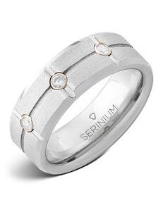 Serinium® Collection Diamond Grid — Stone Finish Serinium® Ring-RMSA006021 Serinium® Wedding Ring