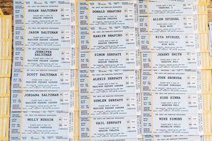 Custom Concert Ticket Escort Cards