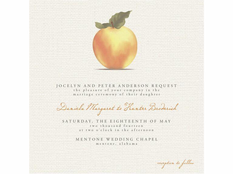 minted apple printable wedding invitation