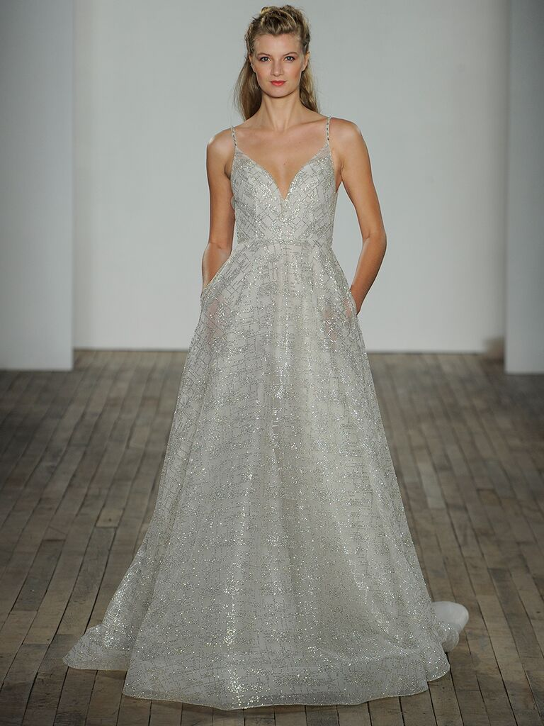 Lazaro Fall 2018 wedding dress pocket trend