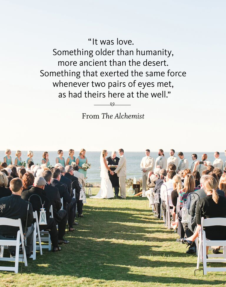 Books And Literature Readings From The Alchemist Wedding Ceremony Reading