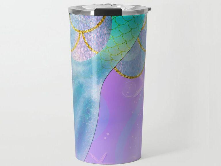 Mermaid tail travel mug for bachelorette parties