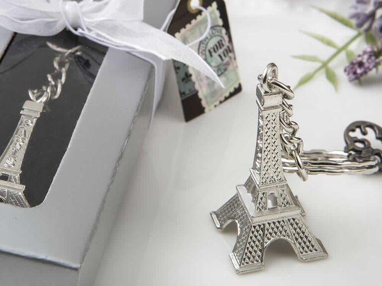 Eiffel Tower keychains cheap wedding favors