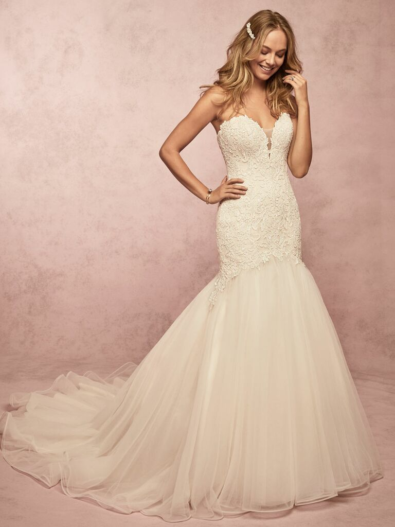 Rebecca Ingram Spring 2019 sleeveless lace fit and flare wedding dress