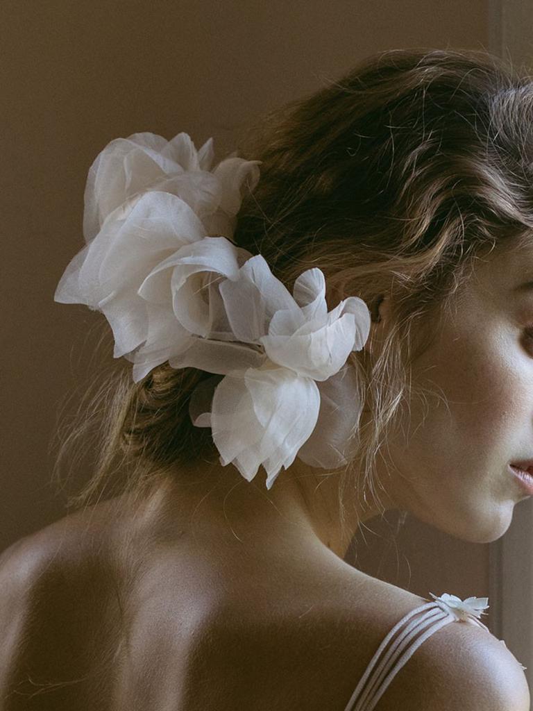 wedding accessory romantic silk flower comb