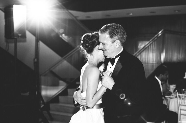 We love this pretty black and white shot of Allison's dance with her father!