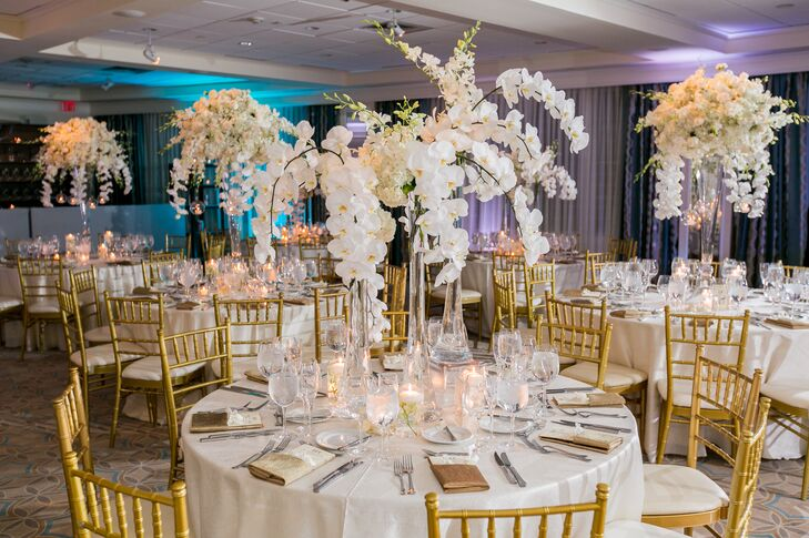 White Orchid Center Pieces